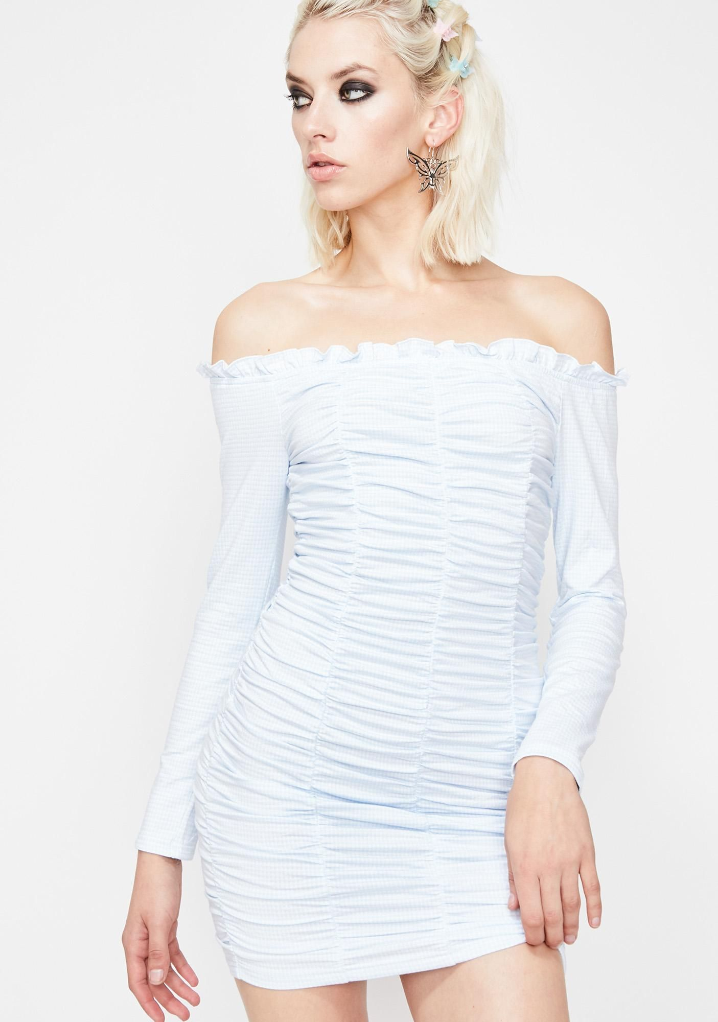 Sky Desperado Gingham Dress Gingham Dress Polka Dress Fashion Outfits
