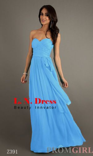 Sexy New Long Formal Evening Prom Dress Bridesmaid Dresses Ball Gown with Sash | eBay - 70 (w/shipping)
