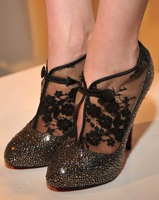 Celebrities Who Wear Use Or Own Louboutin Clic Clac Lace Booties Also Discover The Movies Tv Shows And Events Ociated With