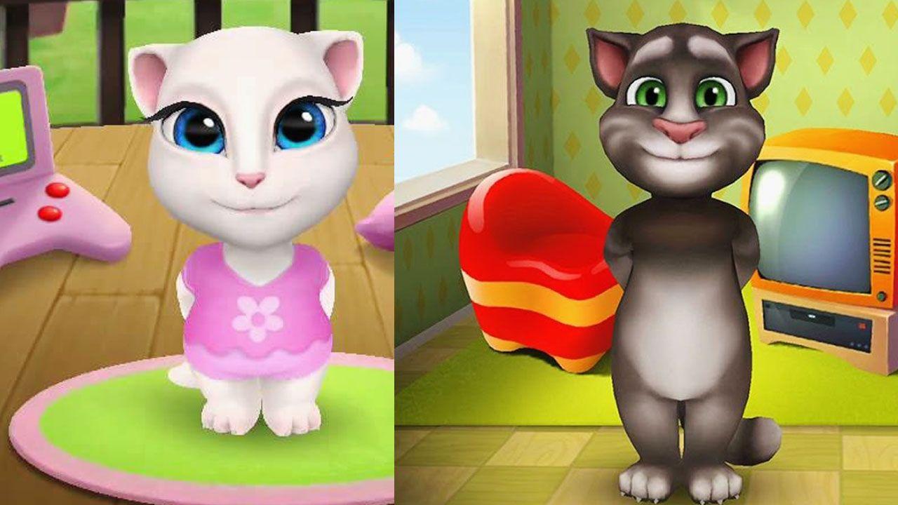 Baby My Talking Angela dress up vs My Talking cat Tom