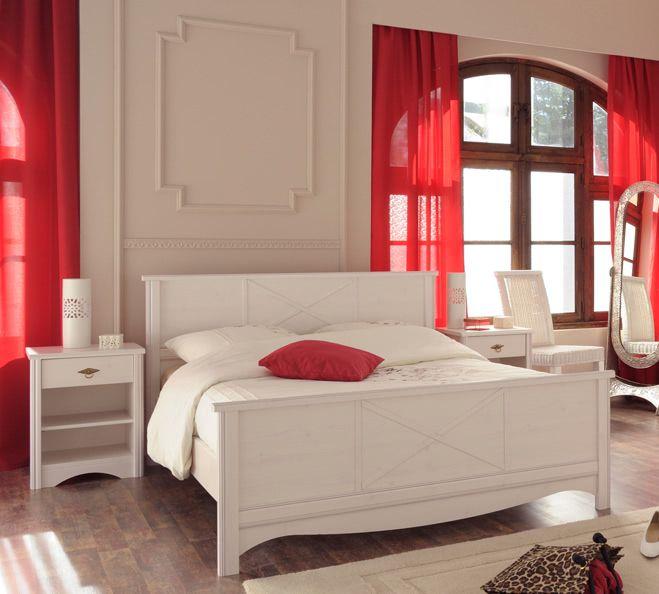 Schlafzimmer-Set 3-tlg inkl 140x200 Bett Marion 7 von Parisot Kiefer