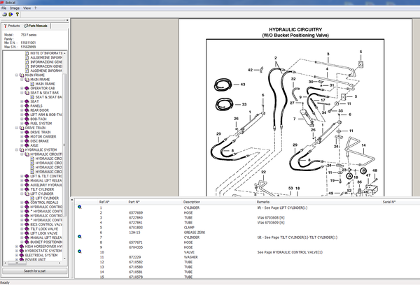 Bobcat Epc Spare Parts Catalog All Models S N Parts Manuals Up To 2005 In 2020 Spare Parts Parts Catalog Bobcat