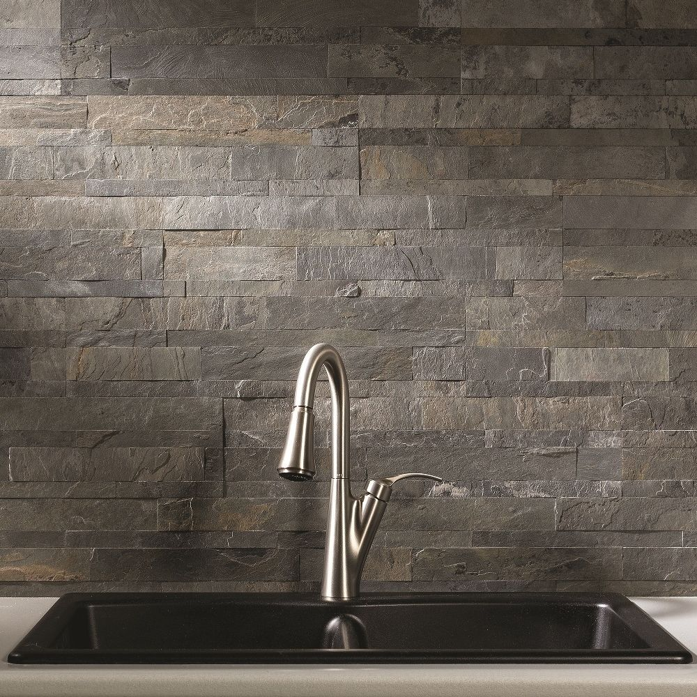 Aspect /Taupe Iron Slate 6-inch x 24-inch Backsplash Tile | Products ...