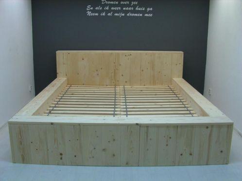 bed van steigerhout zelf maken met een bouwtekening steigerhout
