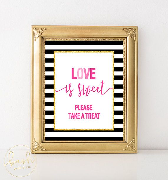 Kate Spade Inspired Love is Sweet Sign Bridal by BashandCoParty ...