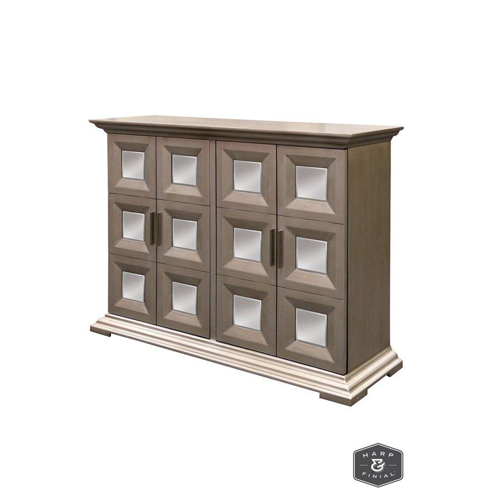 Stylecraft cabinets - Harp Finial Lockhart Cabinet Distressed Natural Finish On Hardwood With Plain Finish Bevel Mirror