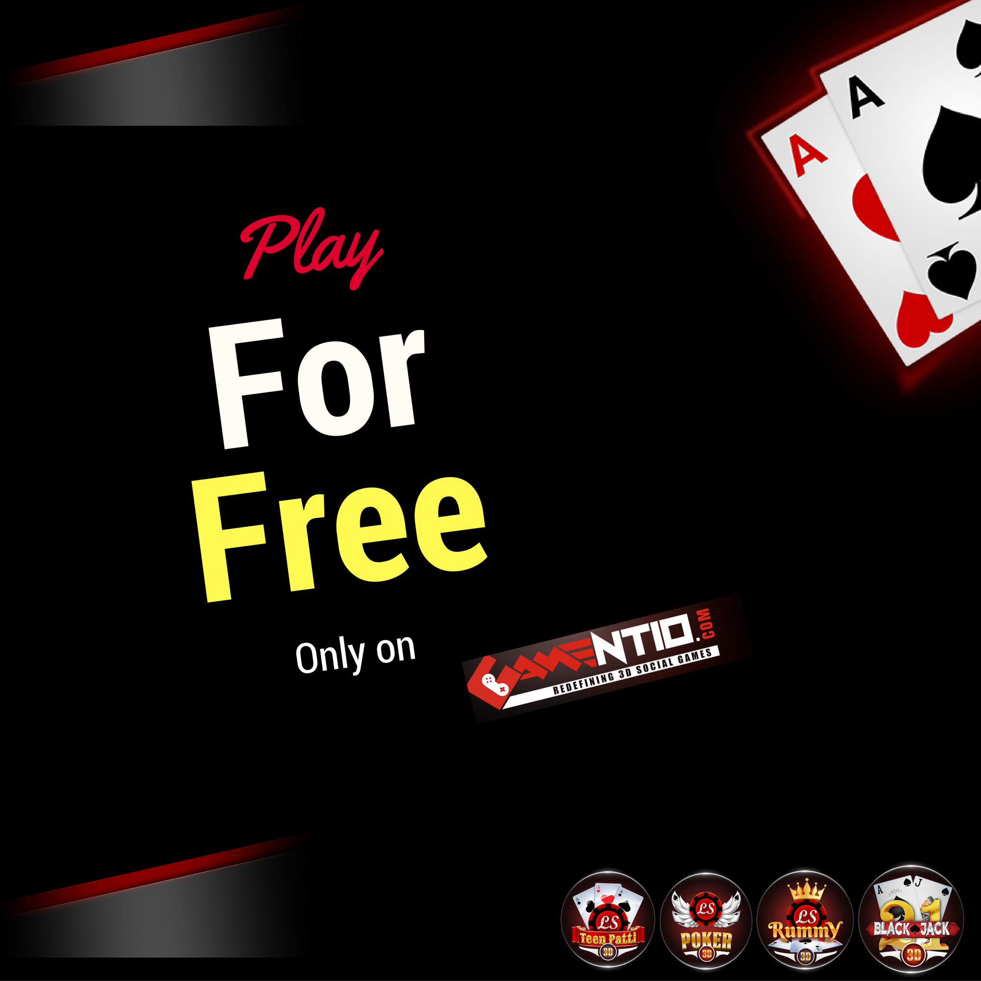 Love to play card games, so play with us only at Gamentio