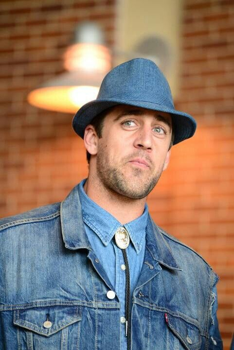 Denim On Denim On Denim At The Gb Welcome Back Luncheon And Oh My Doesn T He Rock It Green Bay Packers Aaron Rodgers Rodgers Green Bay