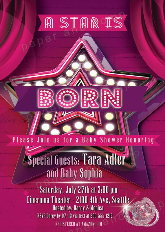 a star is born baby shower invitations | Baby Shower ...
