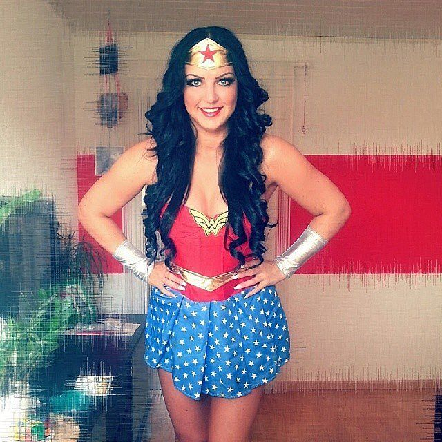 break the internet with these 50 clever costumes wonder woman halloween - Clever Women Halloween Costumes