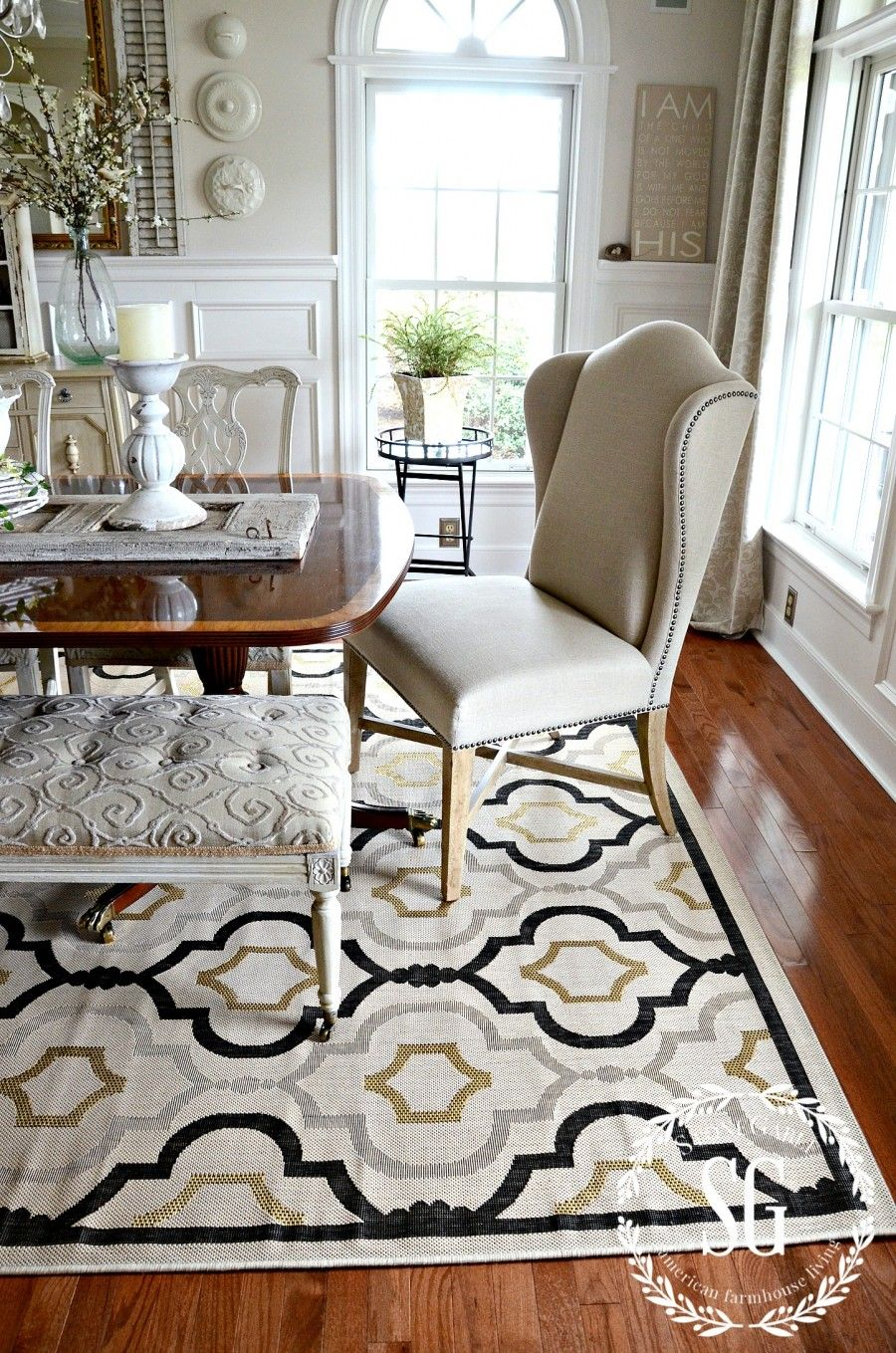 5 rules for choosing the perfect dining room rug area - Dining room area rugs ideas ...