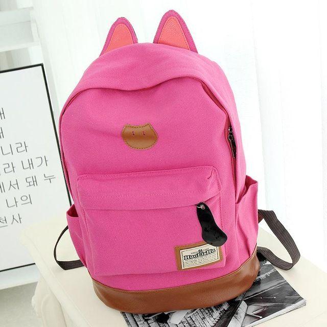 db58d7d320ad Women Backpacks High Quality Travel Bags Cartoon Cat Ear School Bags for  Teenagers Girls Fashion Daypacks Rucksack Mochila