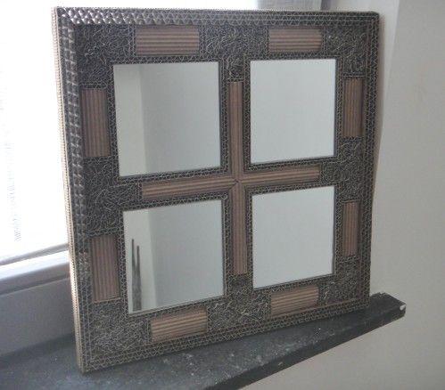 Tableau Miroirs Art Deco En Carton De Recup Le Pot 2 Colle Cie Miroir Art Deco Carton Cadre En Carton