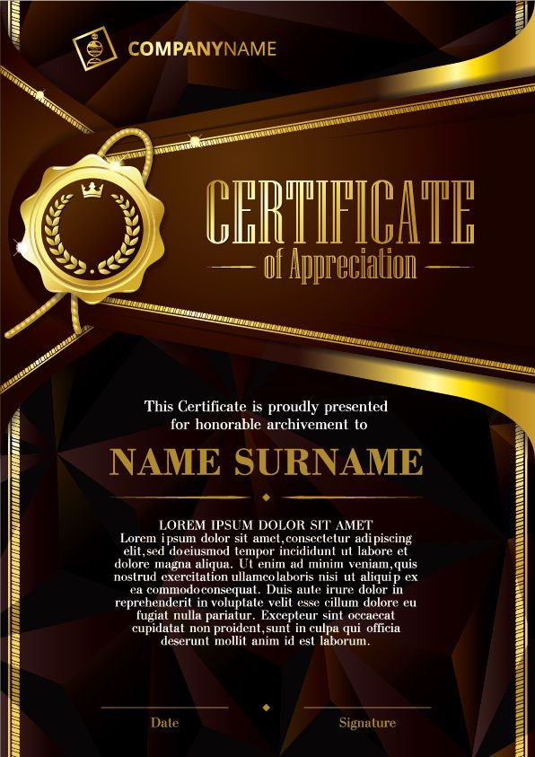Luxury diploma and certificate template vector design 08 loco - new certificate vector free