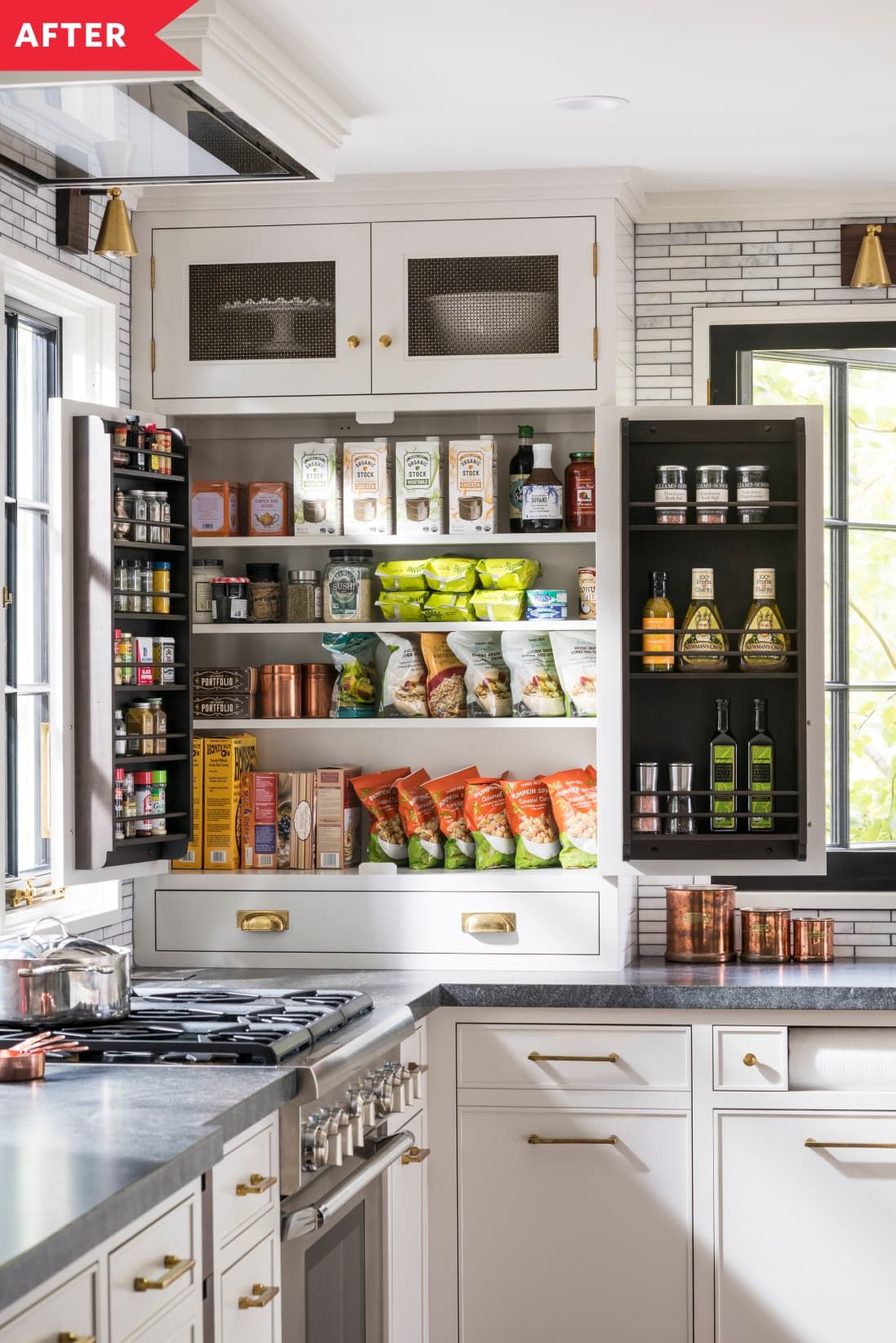 this kitchen renovation project is packed with sneaky hidden storage kitchen pantry cabinets on kitchen cabinets pantry id=13503