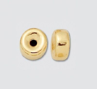 Metals 179269: 14Kt Yellow Gold 6 Mm Roundel Bright Pkg. Of 4 / 14 Kt Gold / 2206 BUY IT NOW ONLY: $30.95