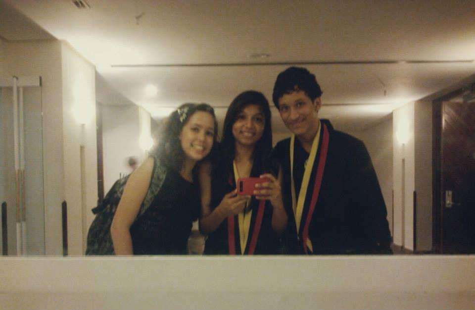 Victoria, Rosdelys y Leo...