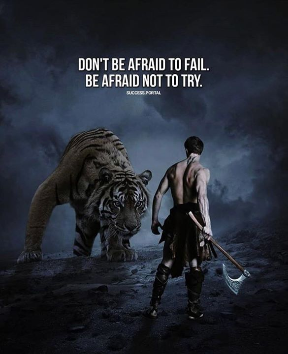 Inspirational Positive Quotes :Dont be afraid to fail..