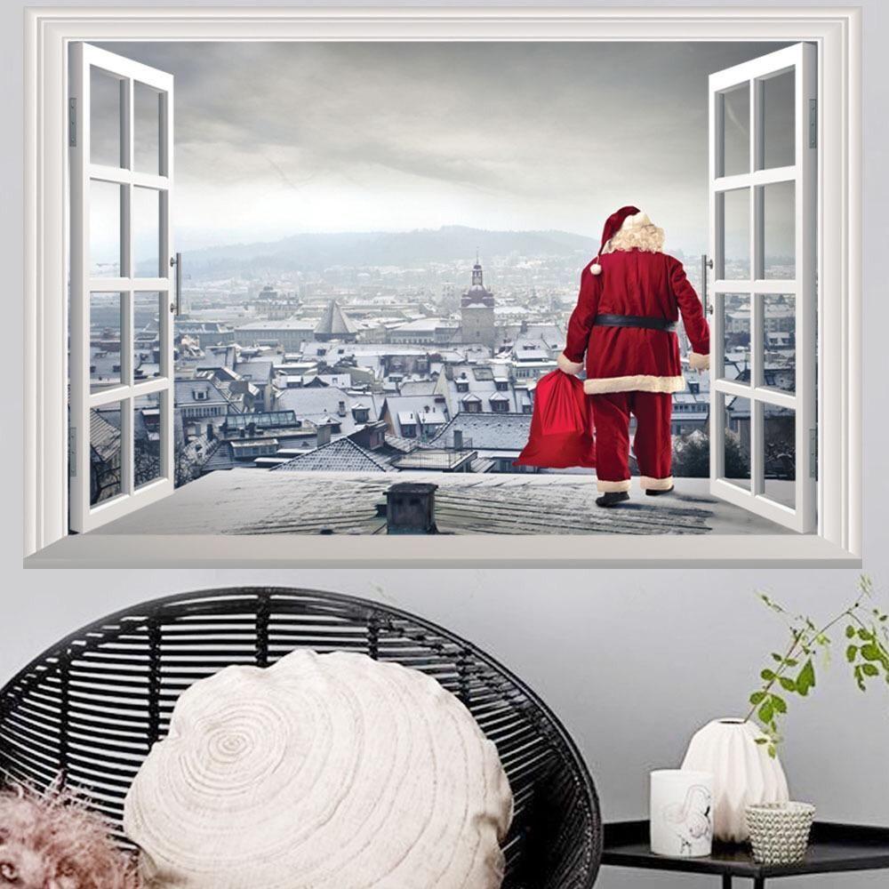 Christmas Wall Decals – the treasure thrift | Christmas Wall ...