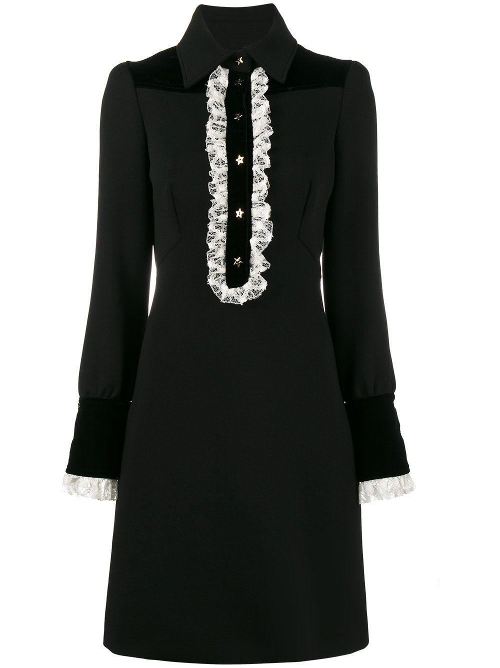 Philosophy Di Lorenzo Serafini Lace Trimmed Long Sleeve Dress Farfetch Short Lace Dress Fashion Dresses Long Sleeve Dress [ 1334 x 1000 Pixel ]