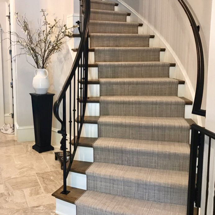 Best Nourison Traverse In Color Dove For Hall Stairs 400 x 300