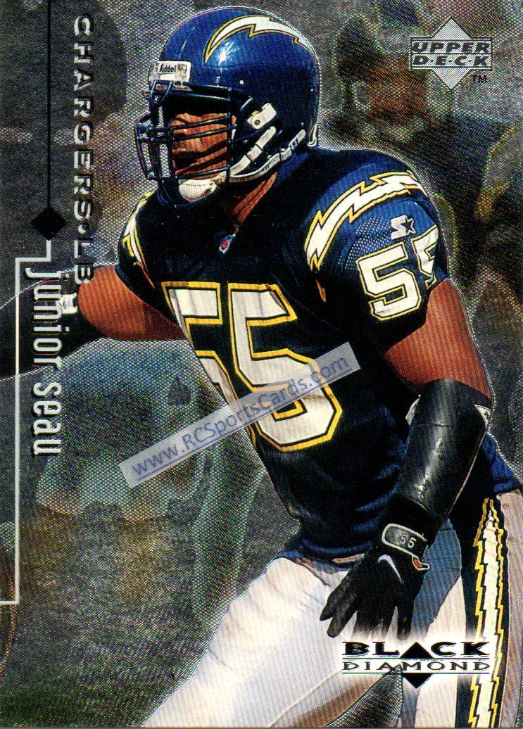 1998 junior seau chargers black dimond 75 at http