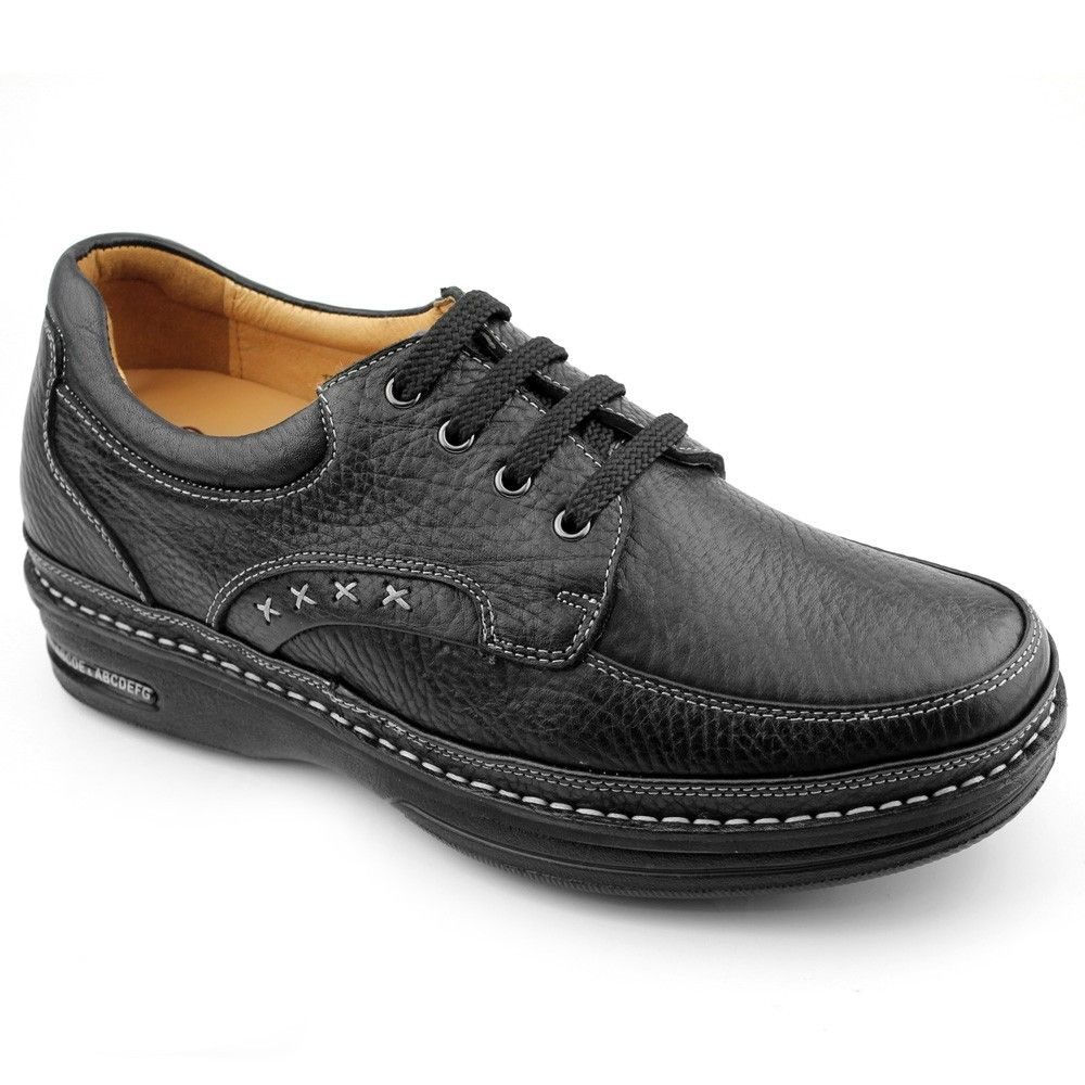 Chamaripa 2.95 inch Cow Leather Casual men's shoes for short stature