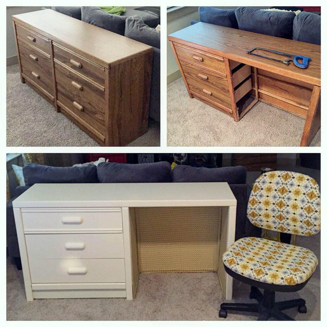 Ideas For Creative Desks Diy Dresser Furniture Diy Dresser Desk