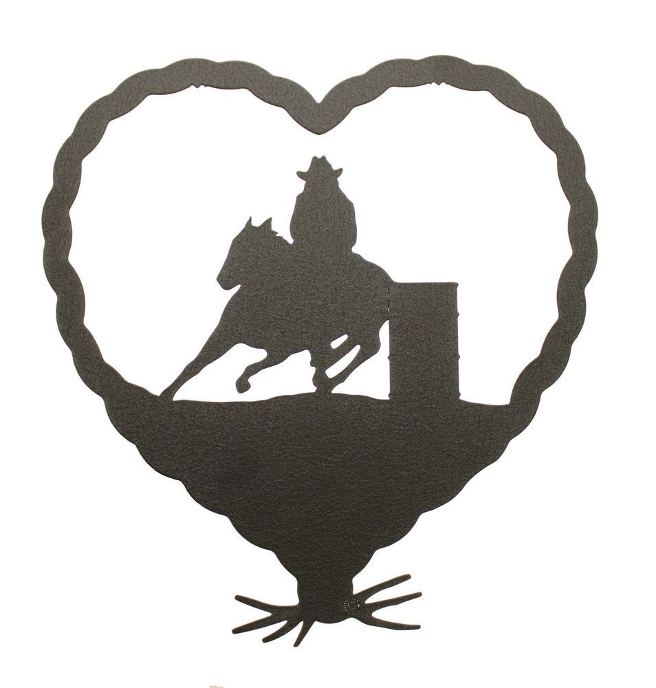 Barrel Race Racer Cowgirl Heart Wall Plaque #Handmade #Country