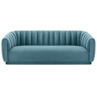 Best Marissa Velvet Sofa Sea Blue Blue Fabric Sofa Sofa 400 x 300