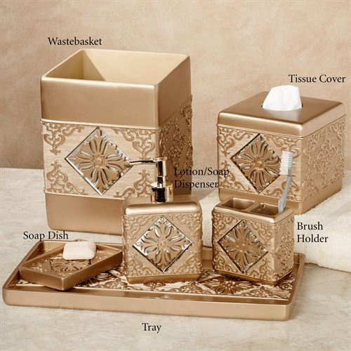 Majesty Champagne Gold Bath Accessories