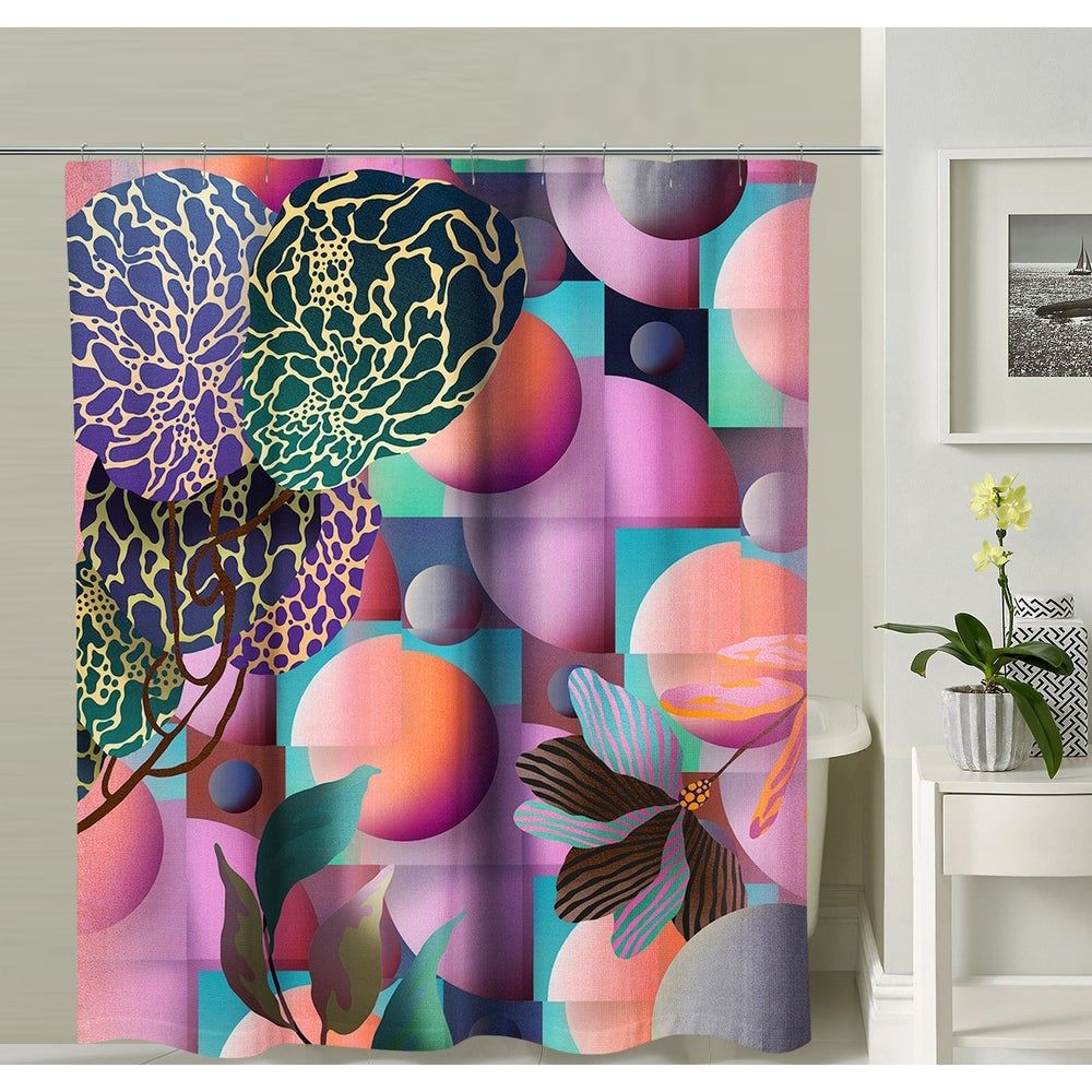 Oyo Concept Mushroom Shower Curtain Purple In 2020 Elephant