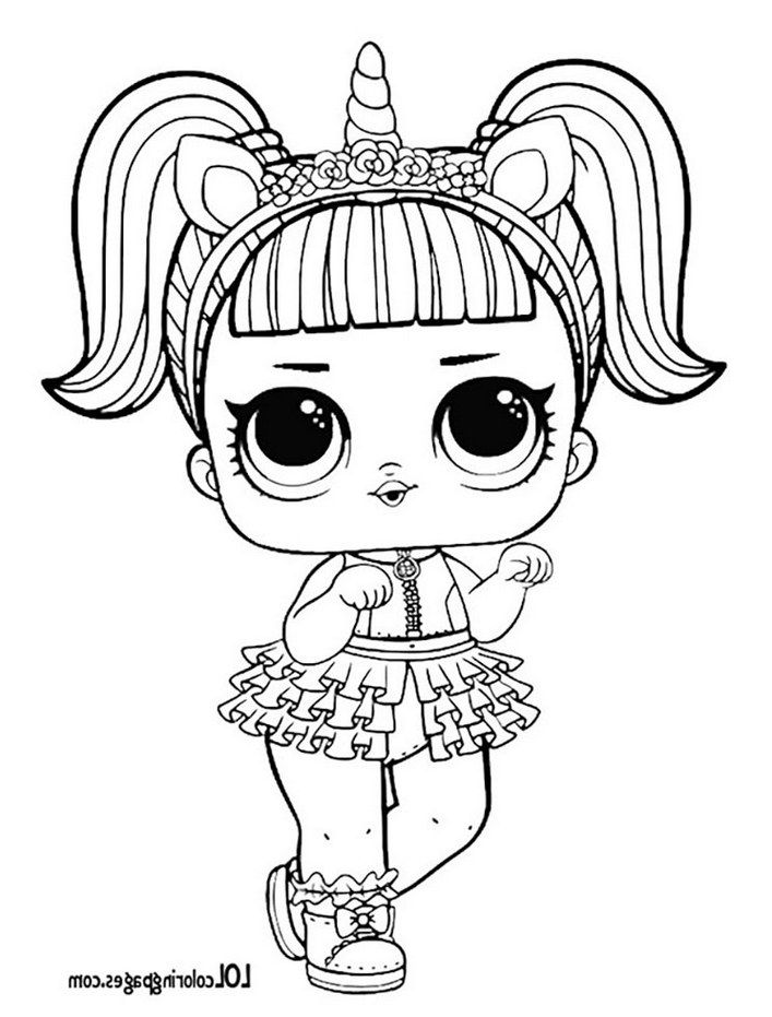 unicorn lol surprise doll coloring page