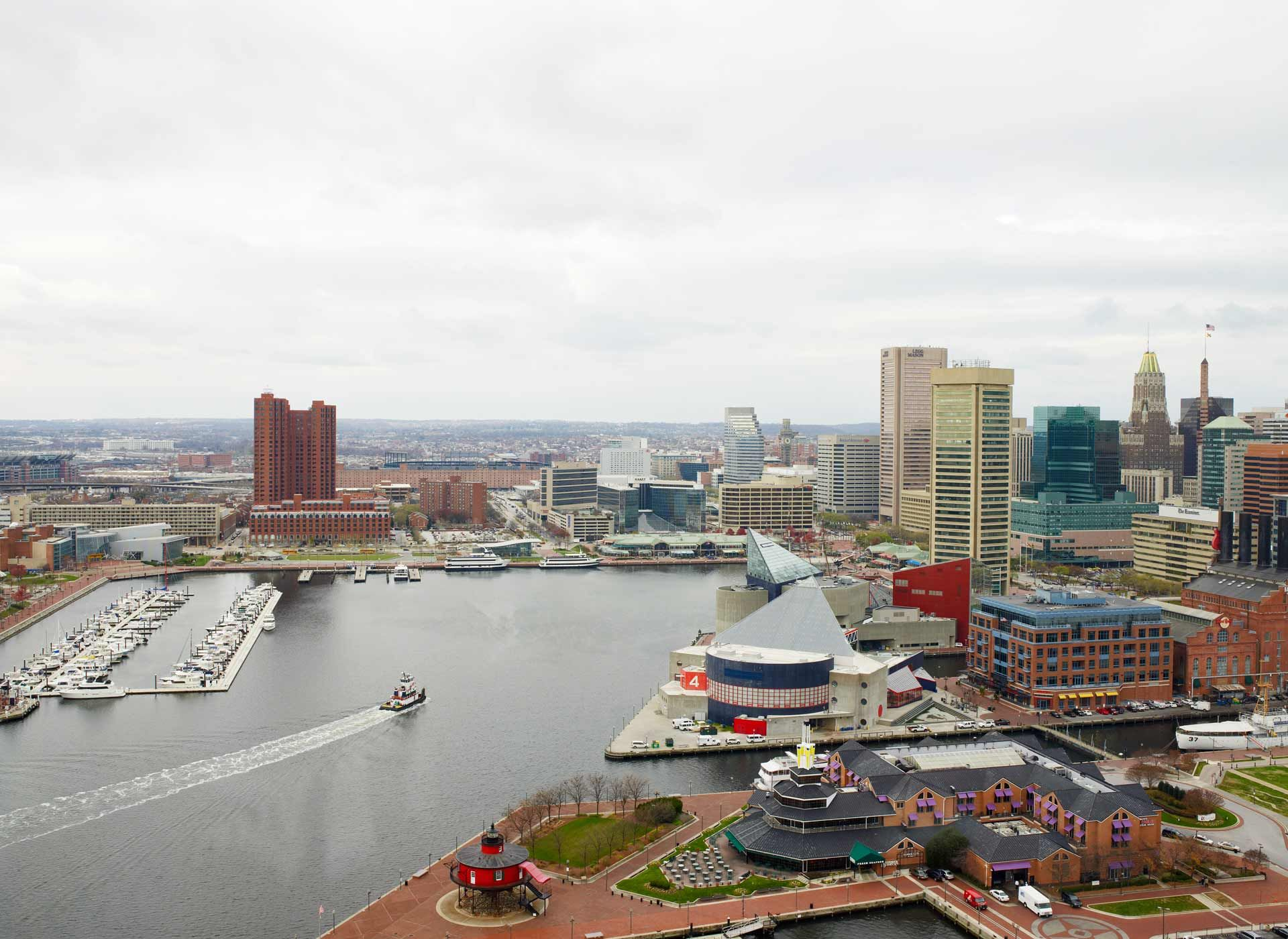 An Image Of The Inner Harbor In Baltimore