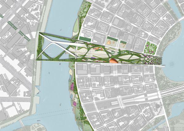 Emerald Kilometer Artist Impressions Pinterest Pedestrian Bridge Pedestrian And Urban Design