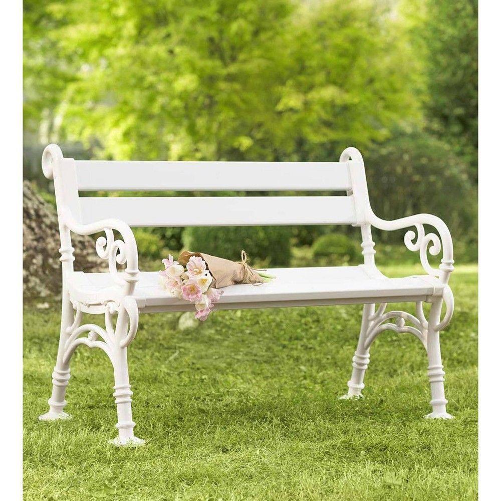 Wondrous Classic Outdoor Yard And Garden Bench With Scroll Arms Andrewgaddart Wooden Chair Designs For Living Room Andrewgaddartcom