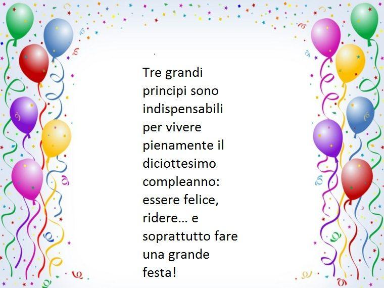 Idea Di Frasi Per Augurare Buon Compleanno Ad Un Diciottenne Esortandolo A Festeggiare Con Una Grande Festa Buon Compleanno Auguri Di Compleanno Compleanno