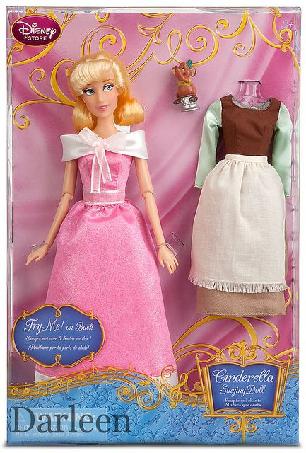"""Disney Authentic Cinderella in Pink Dress Princess Singing Toy Doll Figure 11/"""" H"""