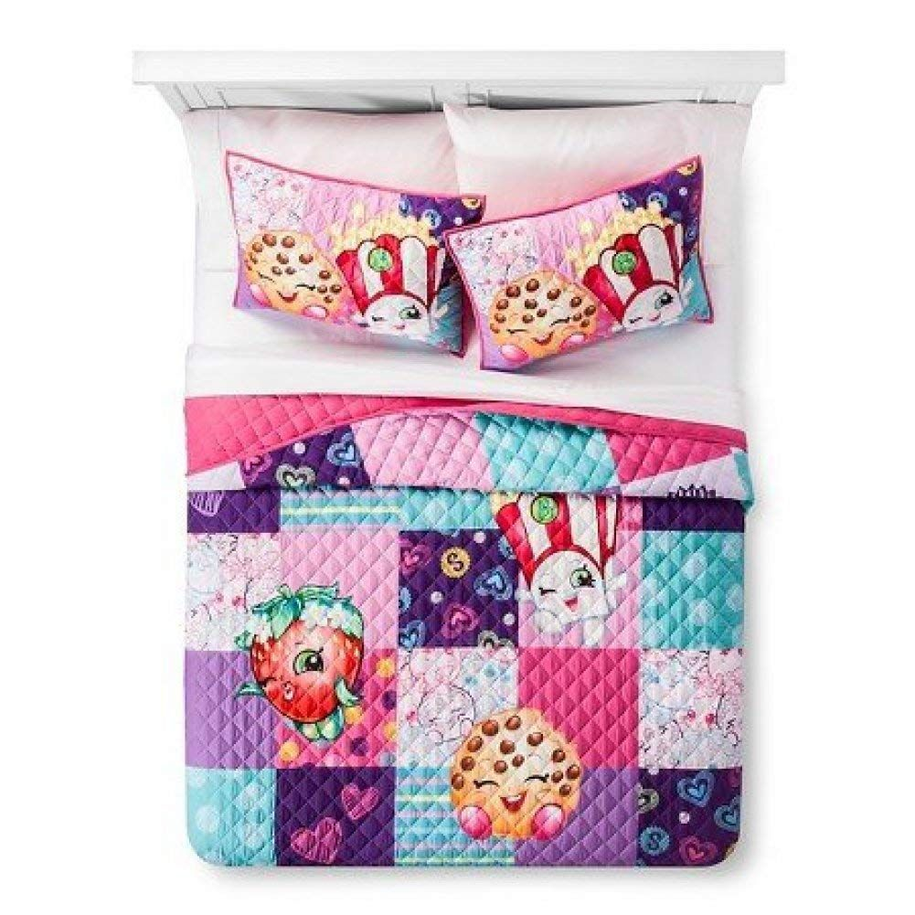 Shopkins Full/ Queen Quilt and Sham Set images