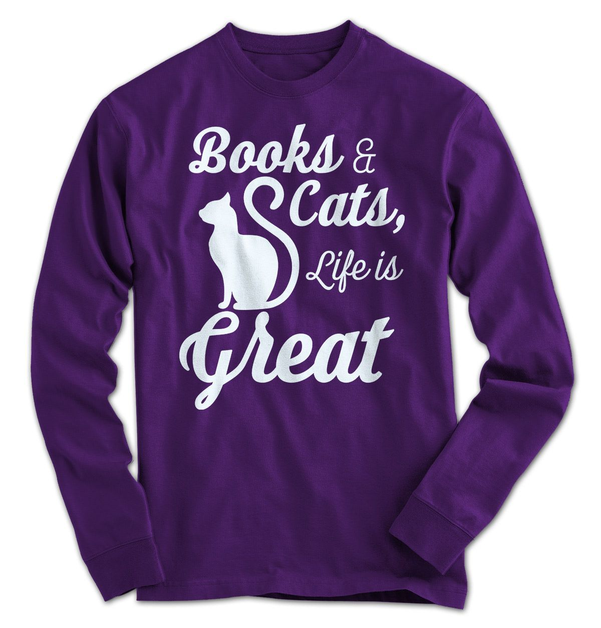 Books & Cats, Life is Great Who doesn't enjoy cuddling up