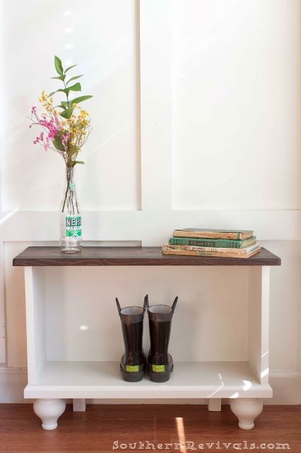A Storage Bench for Small Entryway Space Home Ideas