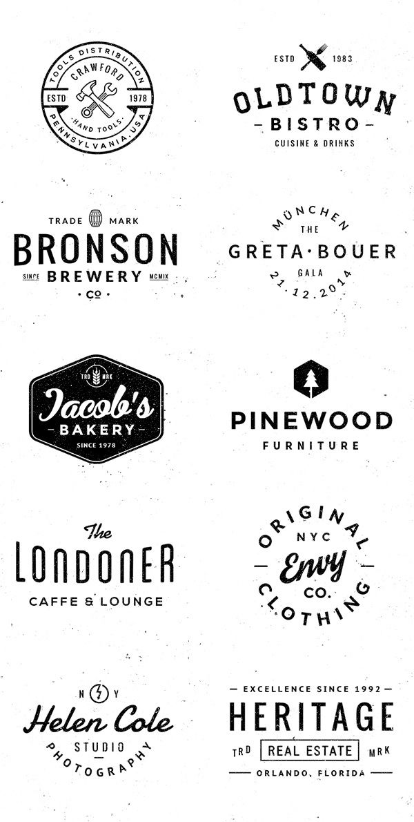 Logo Badge Templates Vol 3 On Behance Retro Logo Design Identity Design Logo Retro Logos
