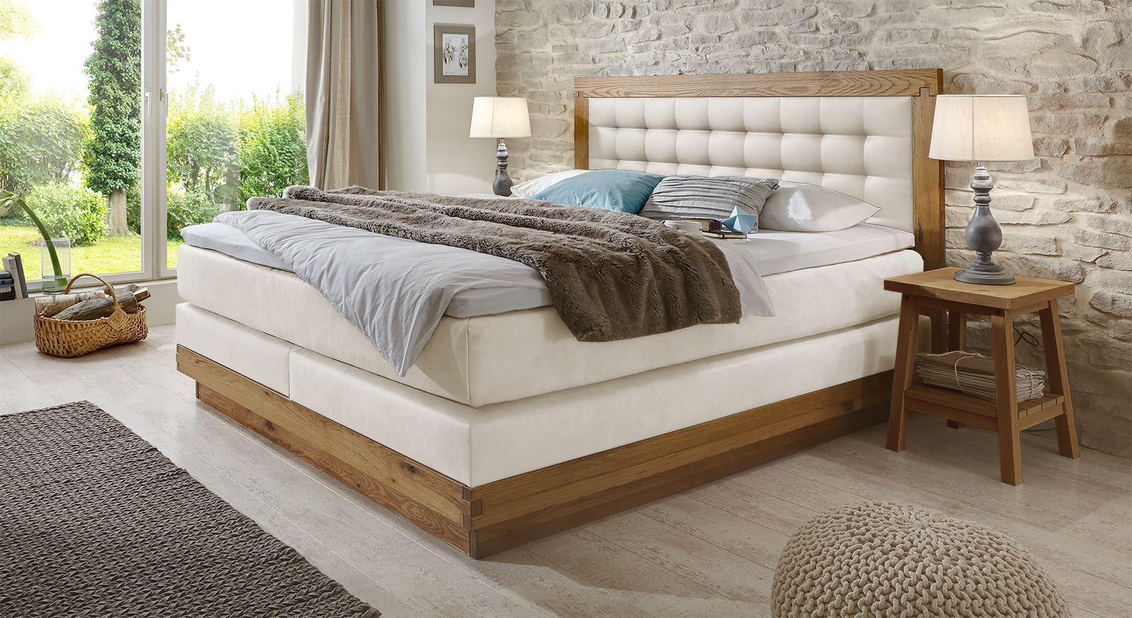 massivholz boxspringbett aus wildeiche kaufen - galicia, Wohnzimmer dekoo