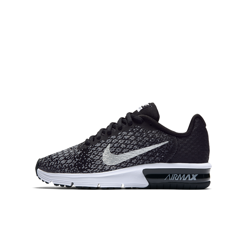 nike air max sequent 2 women's black