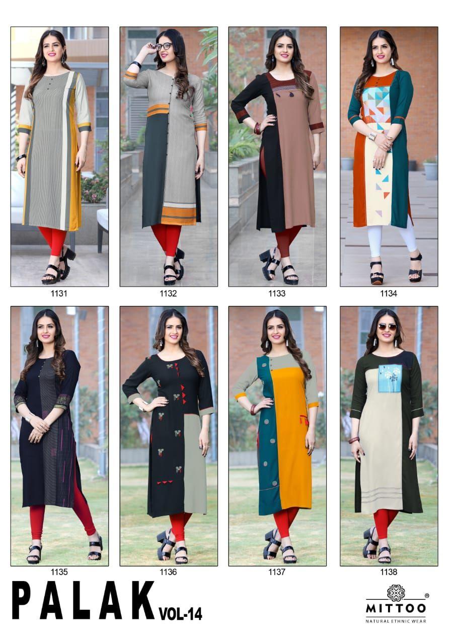 859ea83b9a Mittoo Palak Vol 14 Kurti Wholesale Catalog 8 Pcs in 2019 | Sewing ...