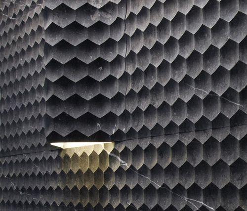 Honeycomb cladding: Lights, Stones Tile, Ceramics Design, Curves ... - textured wall designs