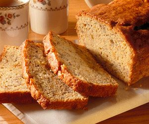lower in calories, fat, and cholesterol than the traditional version of banana bread.