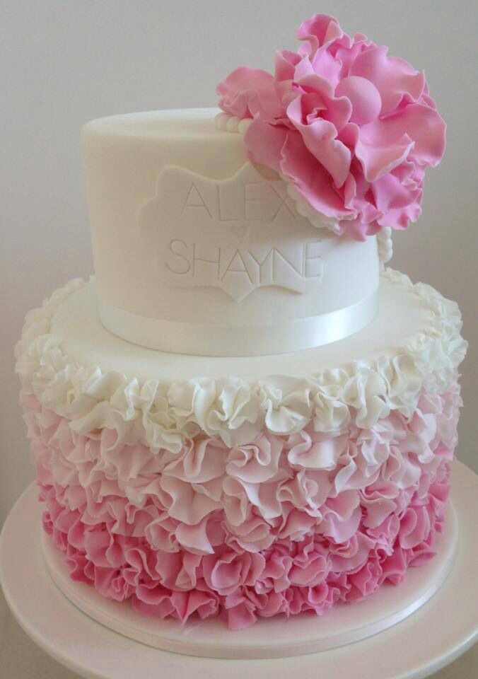 Engagement cake by All Things Sweet - facebook.com/allthingssweetbycarissa