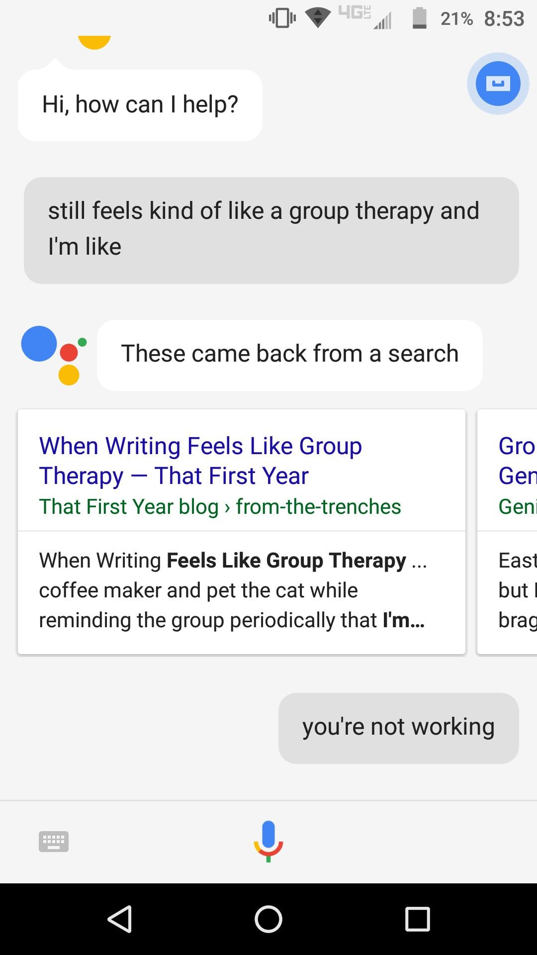 Sometimes google just jumped into my conversations without sometimes google just jumped into my conversations without invitation stopboris Gallery