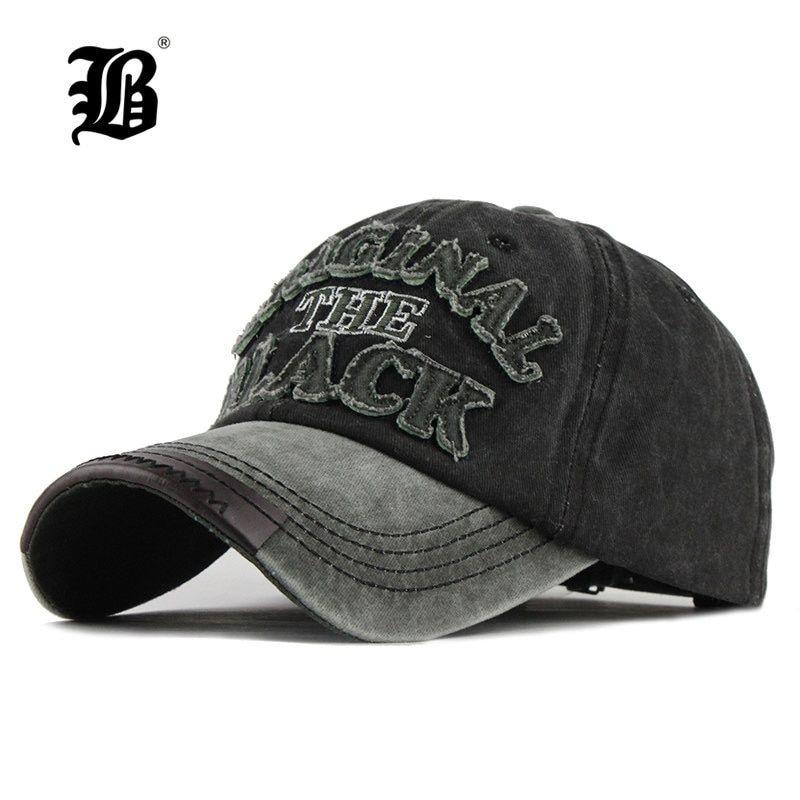 03d448fef7b7 FLB] caliente Retro lavado gorra de béisbol gorra Snapback sombrero ...